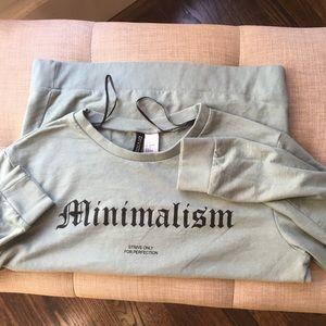 H&M Minimalism Sweatshirt Crew Pullover Sz S